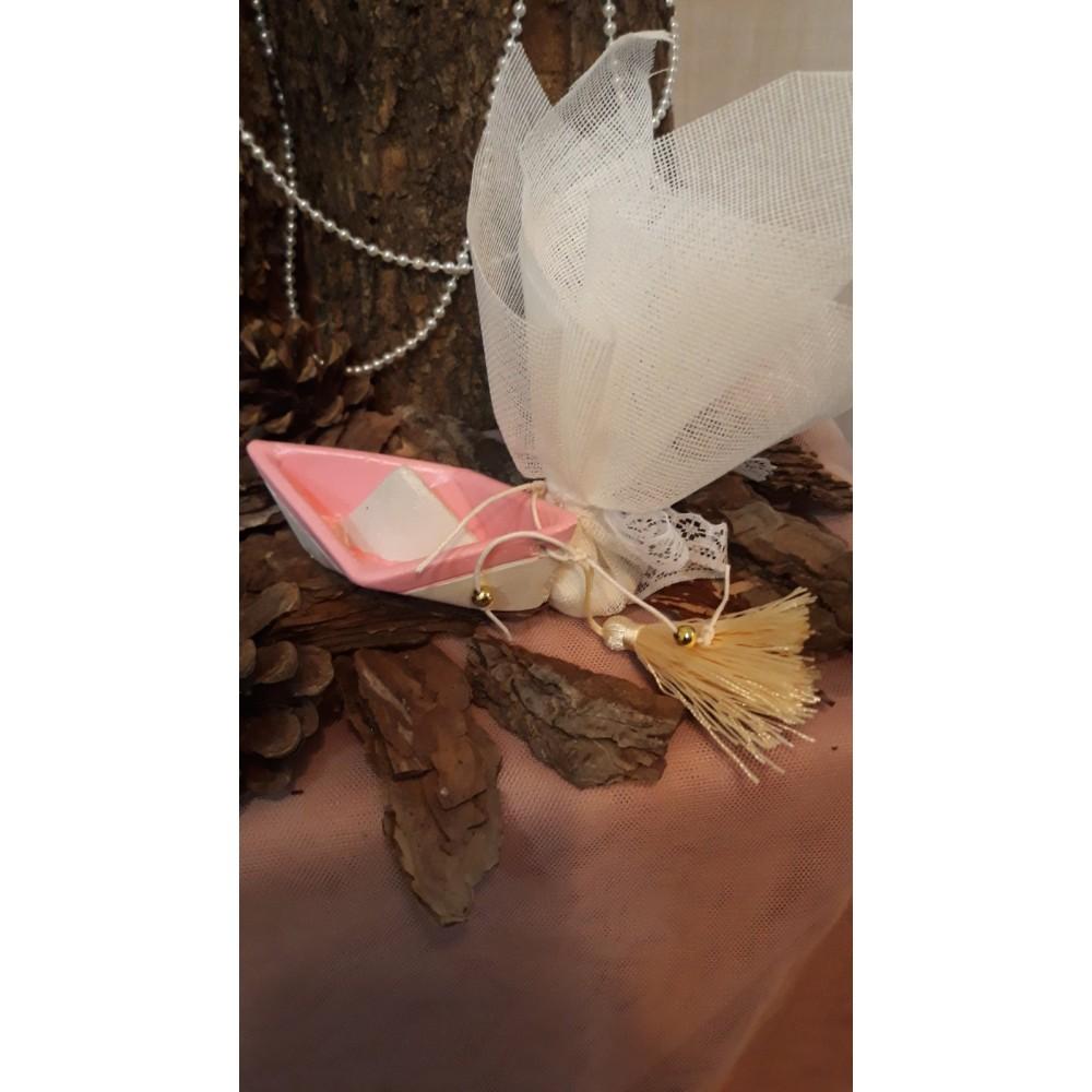 Καραβάκι για κορίτσι ροζ και λευκό χρώμα