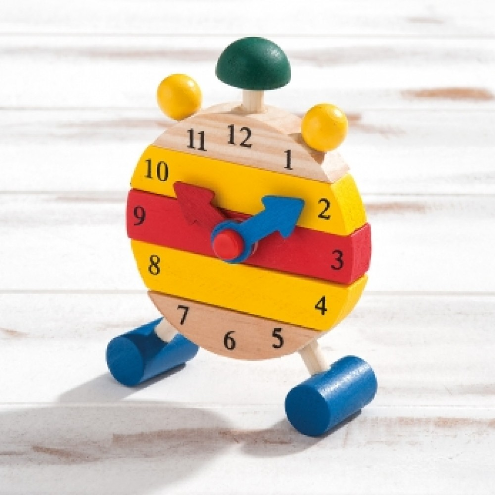 Wooden assembly clock